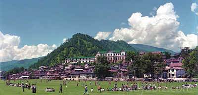 The Town Of Chamba District Headquarter Is Situated In Western Himalayas Between North Latitudes 3210 And 3313 East